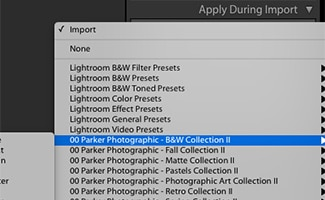 Select a preset to apply
