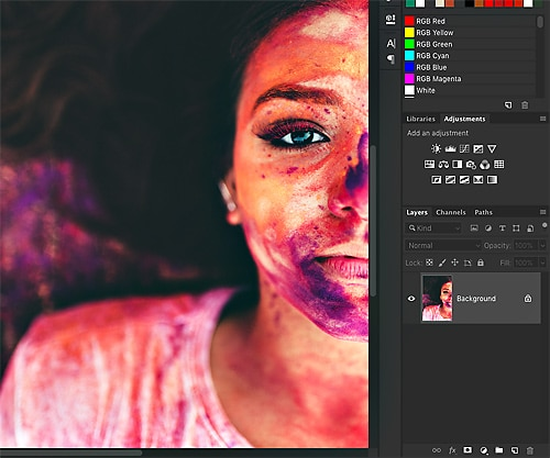Photoshop adjustment layers