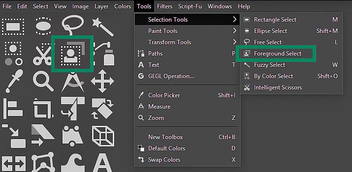GIMP Tutorial - Foreground Select Tool 1