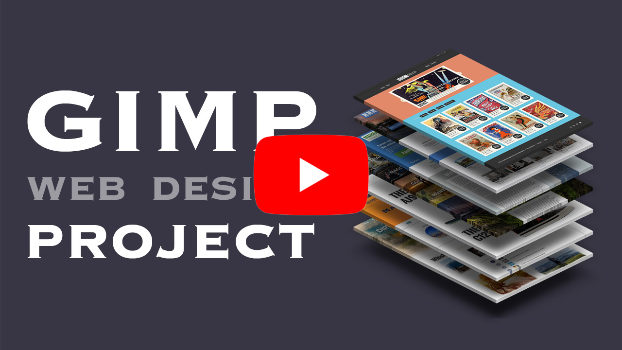 GIMP Web Design for Beginners Tutorial 4