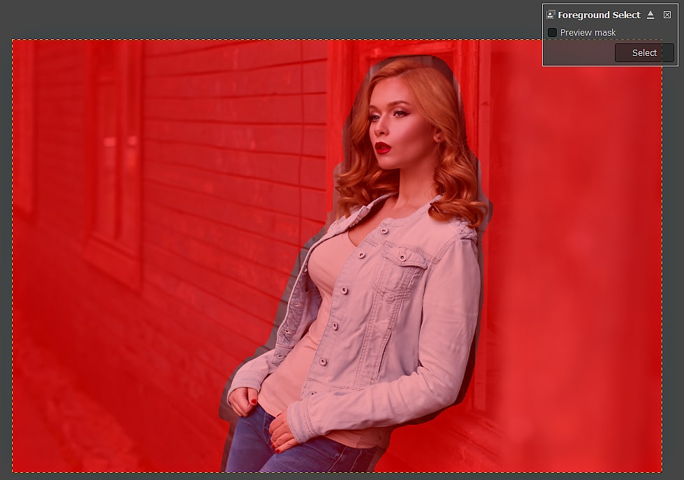 GIMP Tutorial - Foreground Select Tool 4