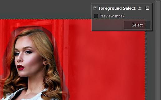 GIMP Tutorial - Foreground Select Tool 9