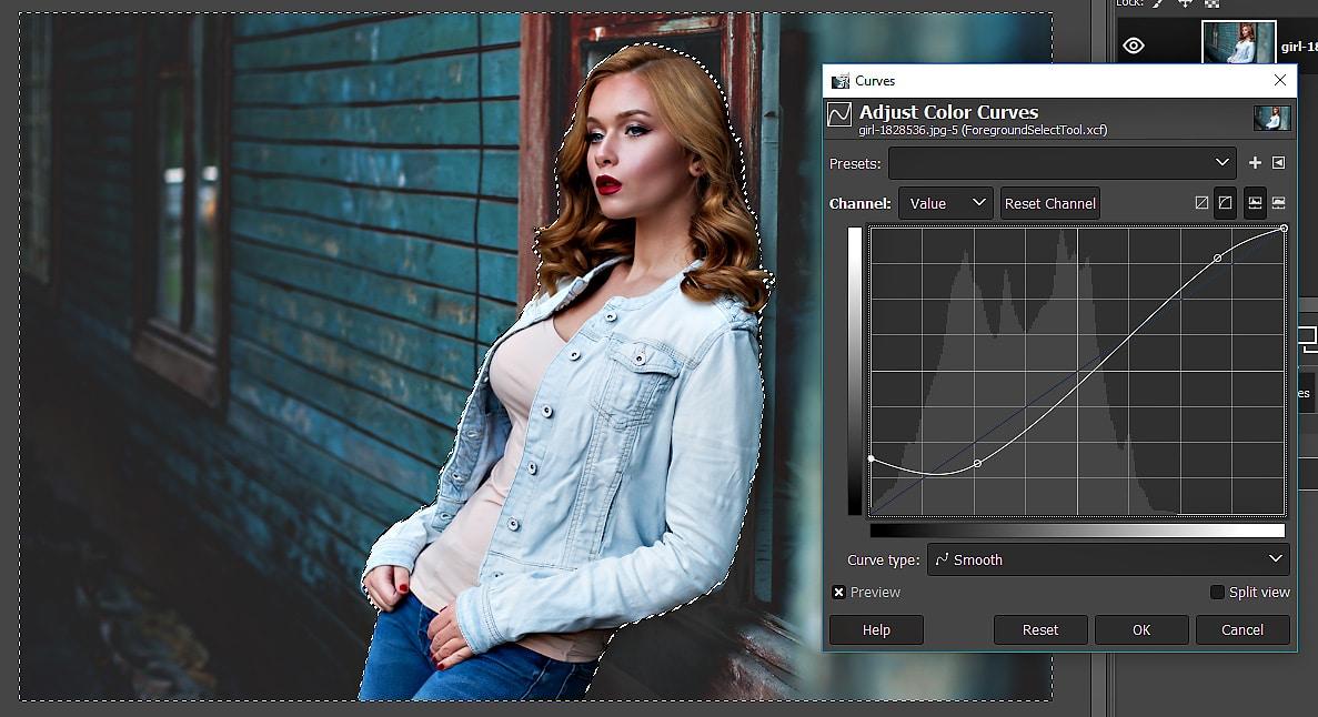 GIMP Tutorial - Foreground Select Tool 16