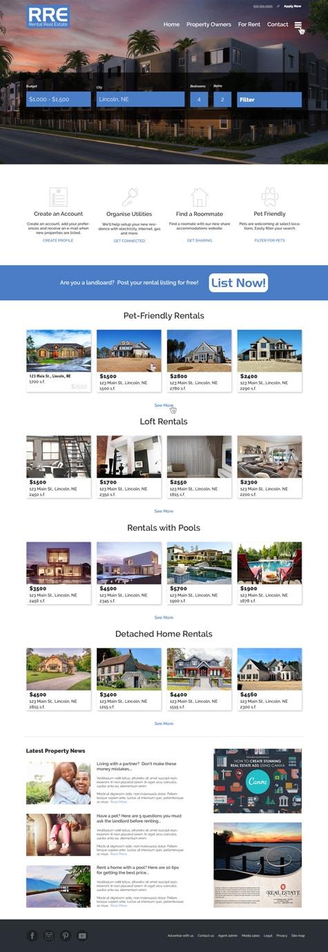 7 Photoshop Web Design Projects 5